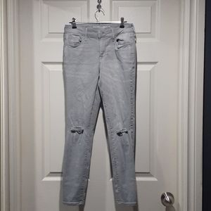 Old navy light grey mid rise jeggings